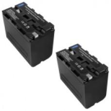 2er Set MTEC baterija za Sony CCD-RV100 CCD-RV200 CCD-SC5 - 6600mAh