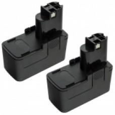 2er Set MTEC baterija za Bosch BAT001 GSR 9.6 / GBM 9.6VES-2 / PDR