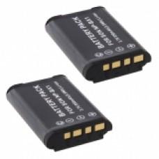 2er Set MTEC baterija za Sony Cybershot DSC-HX50 / DSC-HX300 / HDR-