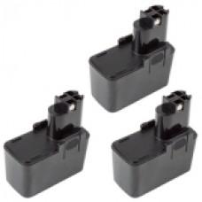 3er Set MTEC baterija za Bosch GBM 7.2 / GNS 7.2V / GSR 7.2V / GUS