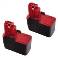 2er Set MTEC baterija za Bosch GSB 14.4 VE-2 / PSR 14.4 VES-2 - 300
