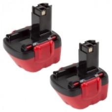 2er Set MTEC baterija za Bosch 3360 / 3455 / EXACT 12 / GLI12V - 13