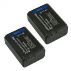 2er Set MTEC Baterija Sony NEX-3 NEX-5 NEX-6 NP-FW50 - 1000 mAh