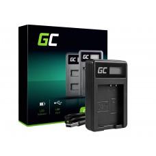 Green Cell polnilec baterije LC-E10 za Canon LP-E10, EOS Rebel T3, T5, T6, Kiss X50, Kiss X70, EOS 1100D, EOS 1200D, EOS 1300D (ADCB10)