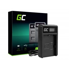 Green Cell polnilec baterije LC-E6 za Canon LP-E6, EOS 70D, 5D Mark II/ III, 80D, 7D Mark II, 60D, 6D, 7D (ADCB07)