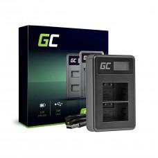 Podwójna ładowarka DE-A83, DE-A84 Green Cell ® do Panasonic DMW-MBM9, Lumix DMC-FZ70, DMC-FZ60, DMC-FZ100, DMC-FZ40, DMC-FZ47 (ADCB33)
