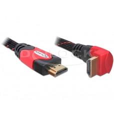 Kabel HDMI A-A Moški/Moški 1.4 obrnjen dol rdeči 1m
