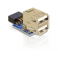 Adapter USB Pinheader Ženski > 2x USB2.0-A Ženski V