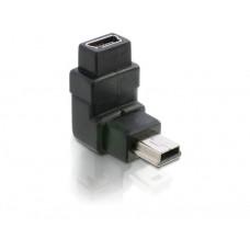 Adapter USB mini B 5pin Moški/Ženski 90° obrnjen