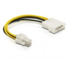 Kabel Power Molex 4pin Moški > P4 Pin Moški 15cm