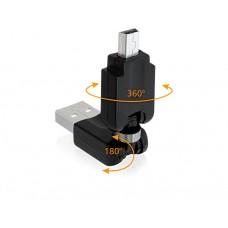Adapter USB 2.0-A Moški > mini USB Moški rotacijski Delock