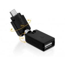 Adapter USB 2.0-A Ženski > USB micro-B Moški Vrtljivi Delock