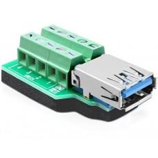 Adapter Terminalblock > USB3.0 A-Ženski s Pad-om