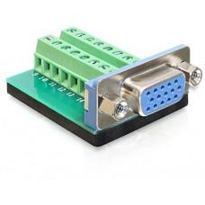 Adapter Terminalblock > VGA Sub-D 15Pin Ženski