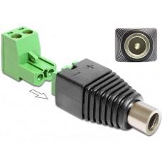 Adapter Terminalblock > DC 2,1 x 5,5 mm Ženski priključek 2-delni