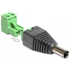 Adapter Terminalblock > DC 2,1 x 5,5 mm Priključek 2-delni