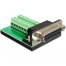 Adapter Terminalblock > Sub-D 15Pin Ženski