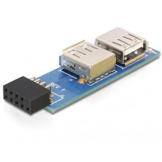 Adapter USB Pinheader Ženski > 2x USB2.0-A Ženski