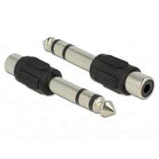 Delock RCA adapter ženski > 6,35 mm stereo jack moški